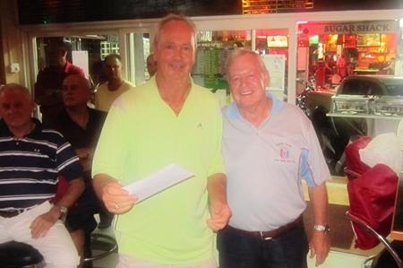 Martin Todd, winner in A Flight (left) with the PSC Golf Chairman Joe Mooneyham.