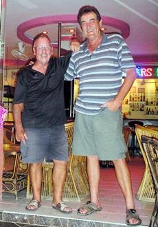 Billy Hewitt and Bruce Gardner, winners at Bangpakong.