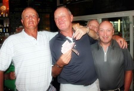 Sunday's winners Jez, Bob and Jan.