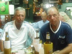 Barry Murnin (right) and Geoff Parker are vying for the golfer of the month title.