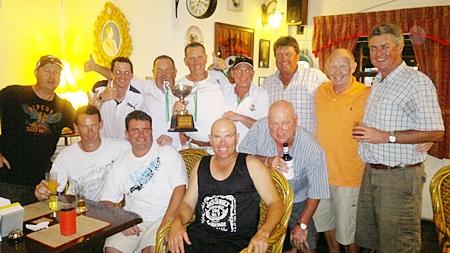 The winning Australia team.