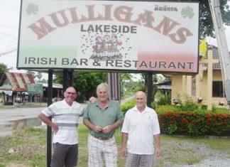 Ray, Clive & Allan at Mulligans Lakeside.