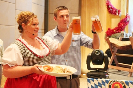 Peta Ruiter and Simon Bender invite everyone to  enjoy some fun and festivities Bavarian style at the Oktoberfest at the Hilton Pattaya, Oct. 23-24.