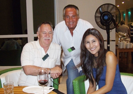 John Mac Vicar (MD Green Line Energy Thailand), Keith Miller (Starfire LEDS) with the charming Rutchadawan Chunnoy.