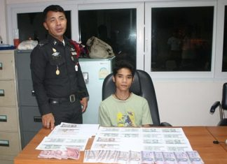 Chaknarong Sornsoi said he thought his photocopied banknotes looked so real, he thought he could get away with spending them.
