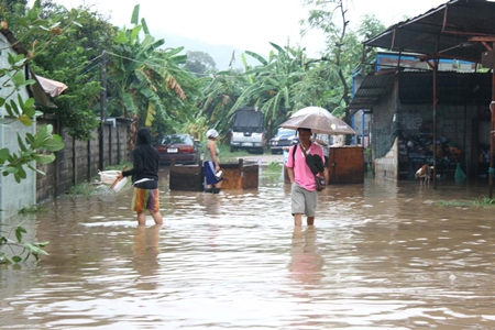 People in Sattahip suffered from flooding Sept 11 & 12, as did the rest of us.