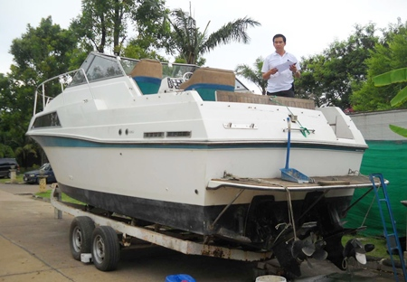 Police have recovered and returned Warida Sae-Ung's boat, 5 years after it was stolen.