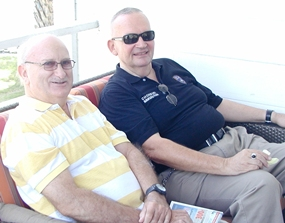 As a new service, Barry Kenyon (seated on right), chief of Foreign Liaison at Chonburi Immigration, which is located at Soi 5 off Jomtien Beach Road, will be available at PCEC meetings on the first Sunday of each month to answer members queries about immigration and visa. Adrian caught up with Barry for a chat about 'things Pattaya'.