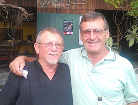 Noel Taylor (left), 2nd in Div B on Friday scored more points than Dennis Pelly (right) who was the winner of Div A.