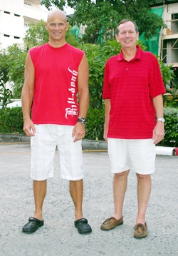 Tom Novak (41pts) and Mike Missler (40pts) were the winners at Pattaya Country Club.
