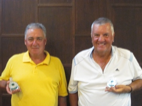 All smiles from divisional winners at Pattana, Mark Armstrong and Rob Lamond