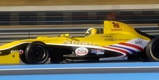 Sandy Stuvik races during round 11 of the 2011 EuroCup series at the Paul Ricard circuit in France, Saturday, Sept. 17.