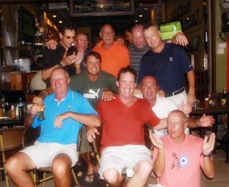 Bob, Mark, McHugh, Roachie, Jez & pals after Friday's trip to Greenwood.