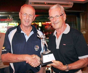 Sunday's low gross winner Claude (right) with Golf Manager Colin.