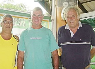 Martin, Clive & Jeff at Mulligans Lakeside after Thursday's round at Khao Kheow.