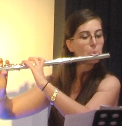 "Alina Gabriela Suwannakoot on flute gave a great rendition of ""The Swan""."