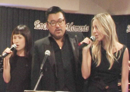 "Kim Jun Man, Alison Shale, and Lena Tan sang their hearts out on ""All I Ask of You."""