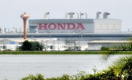 Honda under water