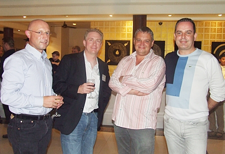 John Hamilton, Michael Parham (CEA), Terry Collins and Mike Davey from Mermaid Offshore Services Ltd.