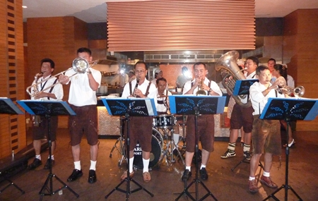 The Thai Navy 'Bavarian' band had the crowd stomping their feet and yodeling at the top of their lungs.