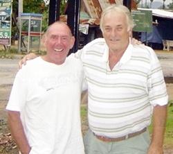 Clive Hoseason & near pin specialist Ray outside Mulligans Lakeside.