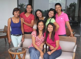 The Jomtien Golf ladies pose for a photo at the IPGC Monthly Medal event at Bangpra on Wednesday, Oct. 5.