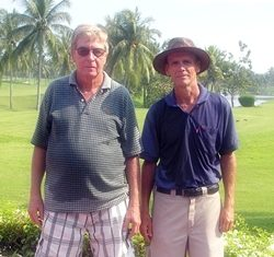 Friday's winners: Brian Blackford and Bill Bertram.