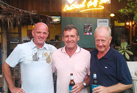 (From left): Andy Butterworth, Dennis Pelly and Steve Kilner, all winners at Green Valley on Friday.