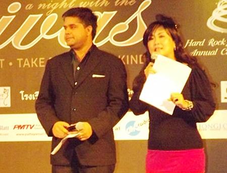 Tony Malhotra and Rungratree Thongsai, MCs extraordinaire.
