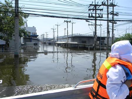 Industrial estates in Nava Nakorn have shut down due to flooding.