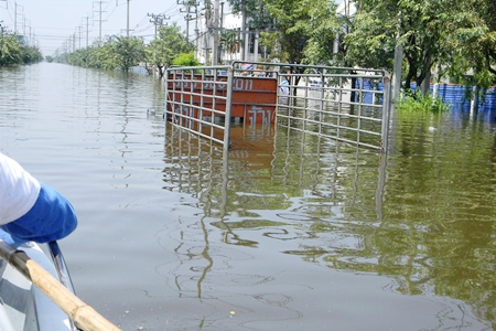 If the supply routes are flooded, and transportation under water, there is no way to get supplies to other places in Thailand, too.