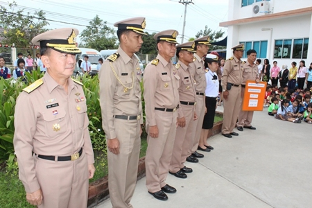 Senior military officers from Sattahip Naval Base arrive at REPS.
