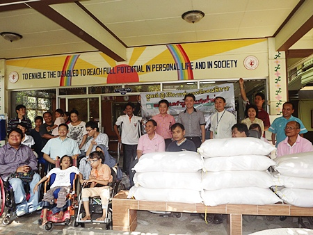 People are donating rice to the shelter, but more is needed.