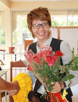 Mae-Roi Jinjutha Pothisa, Pattaya Issan Association's new president.