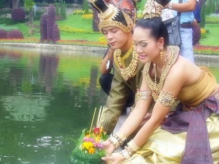 Loy Krathong this year falls on Thursday, November 10. (Photo courtesy Nong Nooch Tropical Garden)