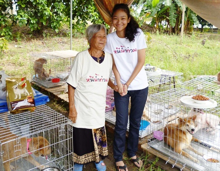 Families with pets driven out of their homes in Bangkok now have a place to stay in Rayong.