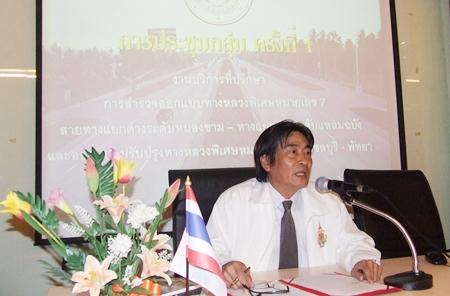 Deputy Mayor Ronakit Ekasingh presides over the meeting at City Hall.