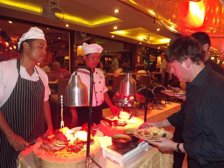 The evening was a sellout and 60 people enjoyed a chef's carved buffet.