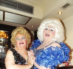 The 'star of the show' was international drag comedian Davina Sparkle (right), freshly arrived from UK.