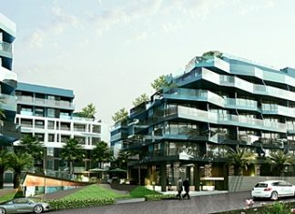 An artist's impression shows the Acqua Condominium.