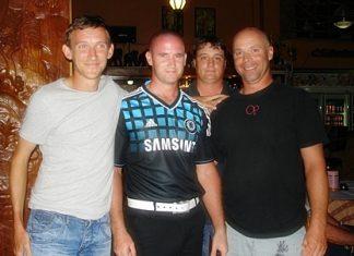 The winning team (from left) Shane Ruddle, Richard Hurley, Russell Exley & Jon Lay.