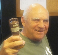 Frank Dunstan with The Ashes.