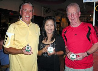 "Left to right: November Medal winners, Richard ""Banjo"" Bannister, Kung Maliporn and Larry Slattery."