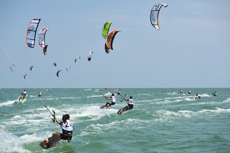 The exciting sport of kiteboarding will make its debut appearance at this year's Phuket King's Cup Regatta. (Photo/Duncan Worthington)