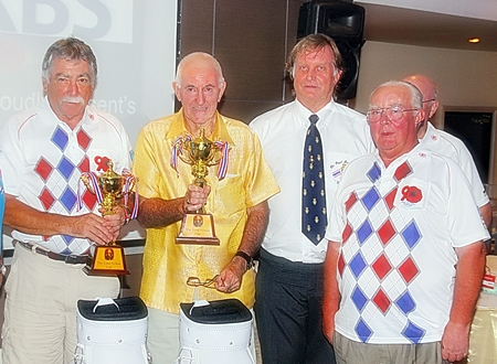 Team winners with Keith Phillip the prize sponsor.