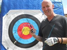 Philip Cutlan and his 'Robin Hood'.