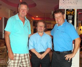 Neville Scurrell, Timo Pyykonen and Rudi at Pattaya Country Club.