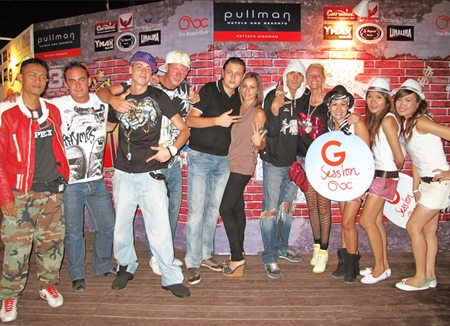 """What's Up G Session"" beach party held on the first Saturday of each month at the Beach Club of Pullman Pattaya Aisawan Hotel is proving a big hit. Regular beach party fans and many new ones join this popular event which has become one of the most popular parties in Pattaya."