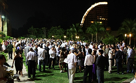 The lawn area could barely hold the hundreds of guests at this year's Movers and Shakers.