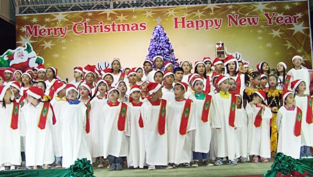 Beautiful young voices fill the air at the Pattaya Orphanage.